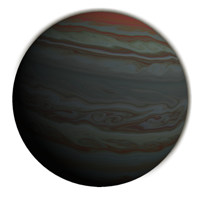 The gas giant planet rendered by Textures for Planets.